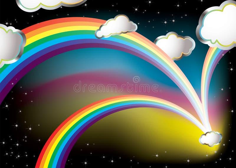 Rêve d'arc-en-ciel illustration libre de droits