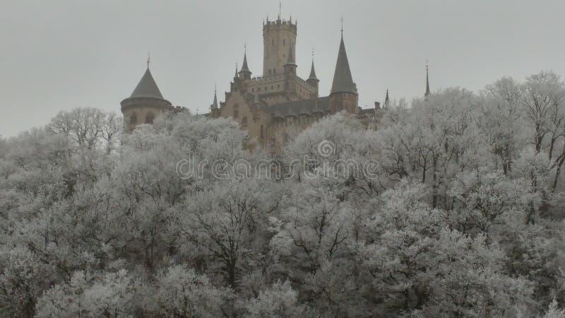 Rêve d'hiver de château photographie stock libre de droits
