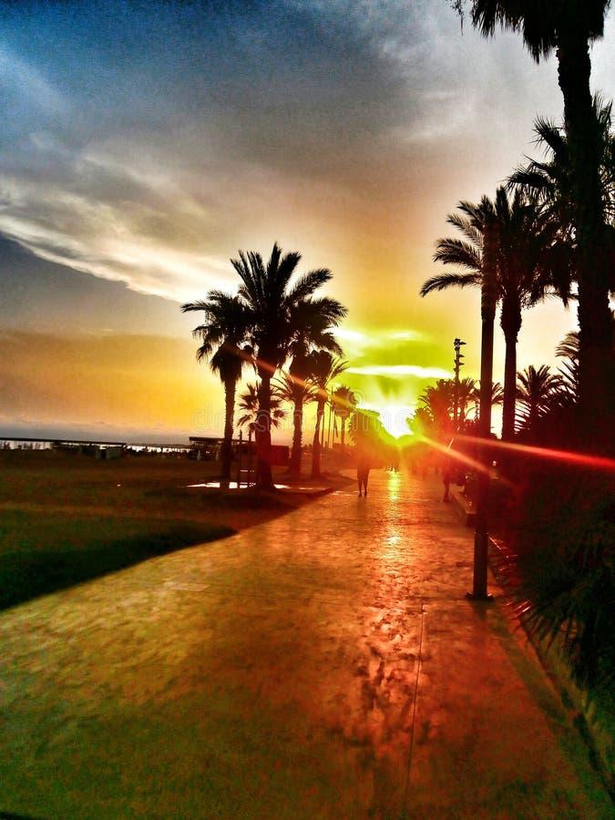 Rêve de coucher du soleil image stock