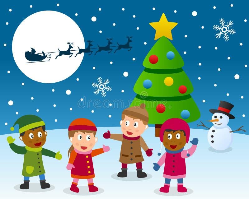 Rêve de Noël illustration stock