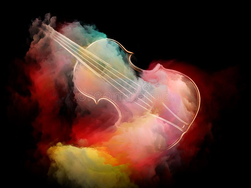 Rêve de violon illustration libre de droits