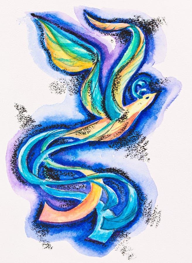 Rêve fabuleux de sunbird illustration de vecteur
