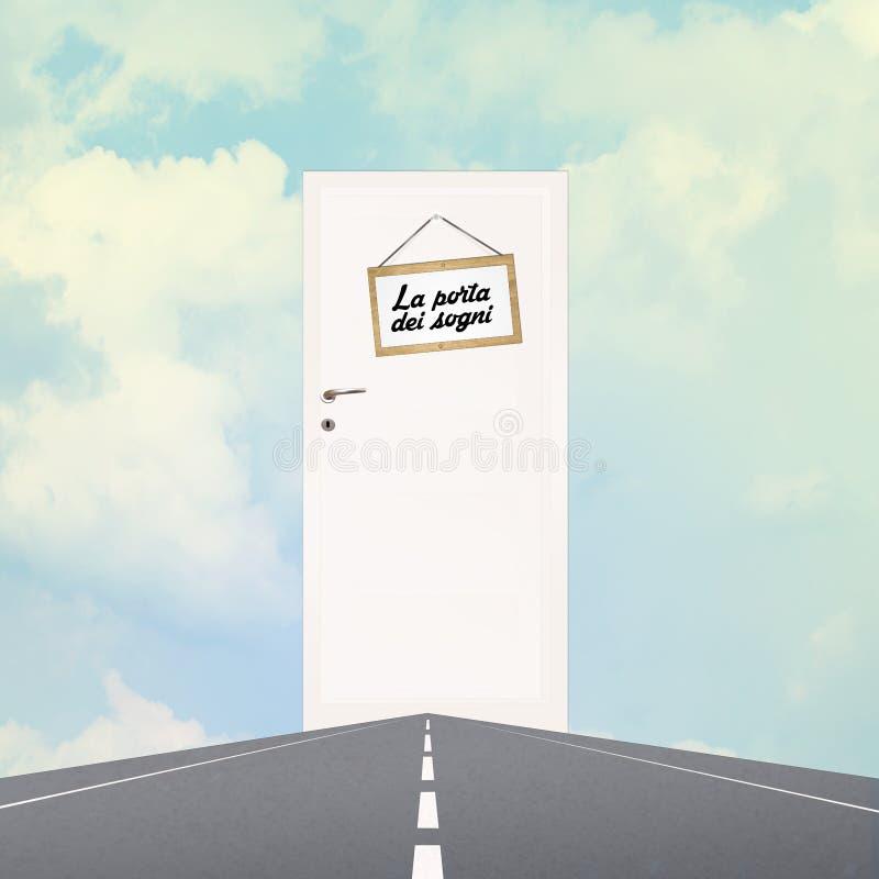 Rêve la porte dans le ciel illustration libre de droits