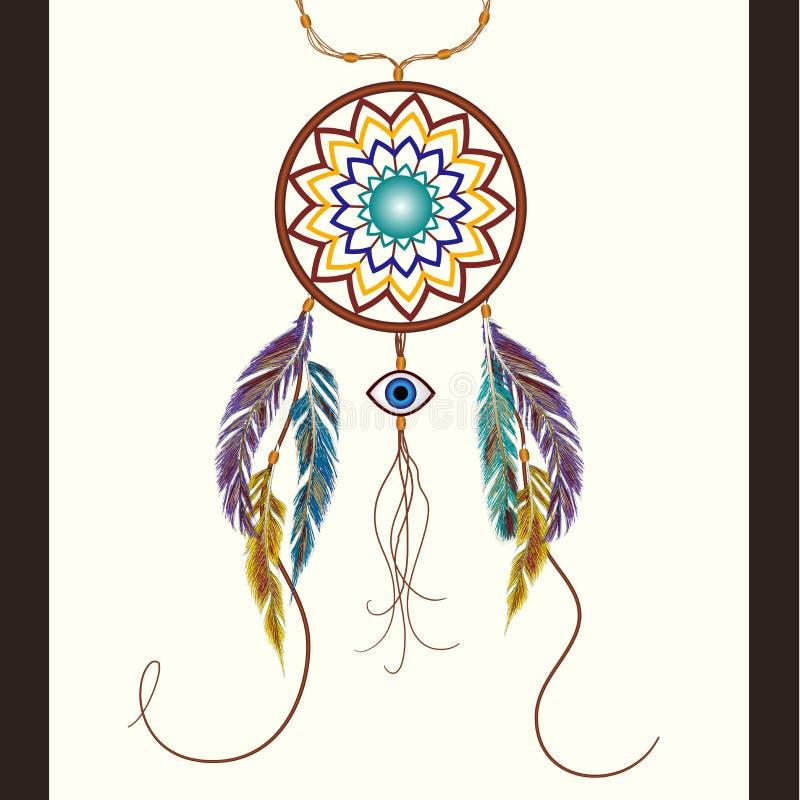 Rêve le receveur avec une amulette contre l'oeil mauvais illustration stock