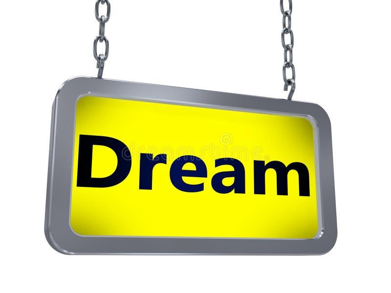Rêve sur le panneau d'affichage illustration de vecteur