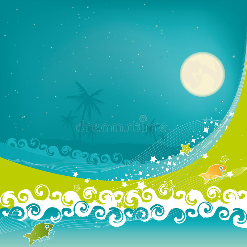 Rêve tropical illustration libre de droits