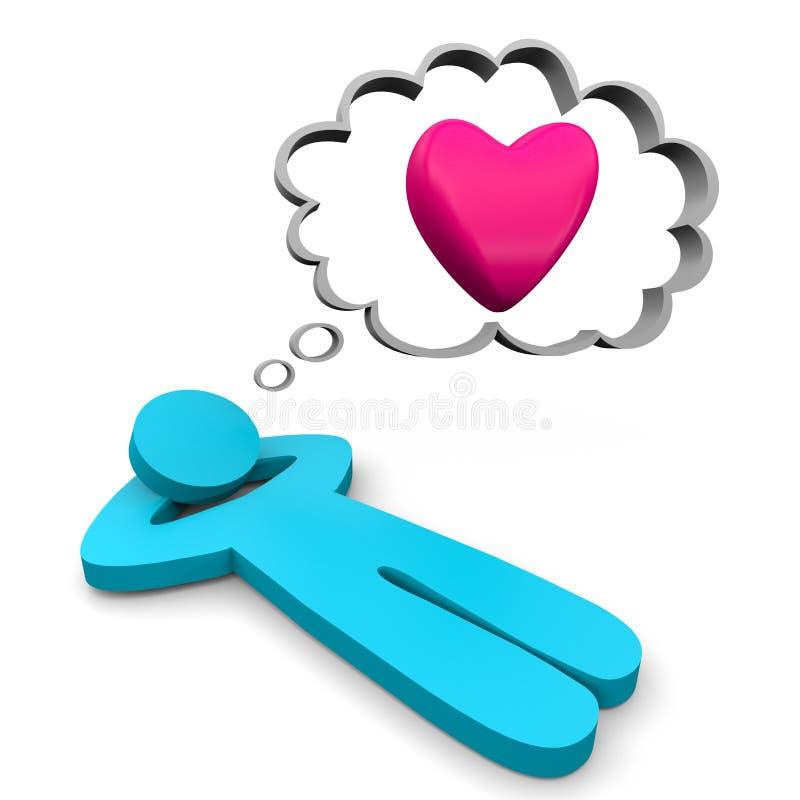 Rêver de l'amour illustration stock