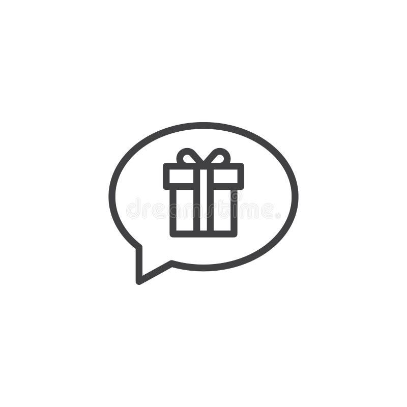 Rêver de l'icône d'ensemble de cadeau illustration de vecteur