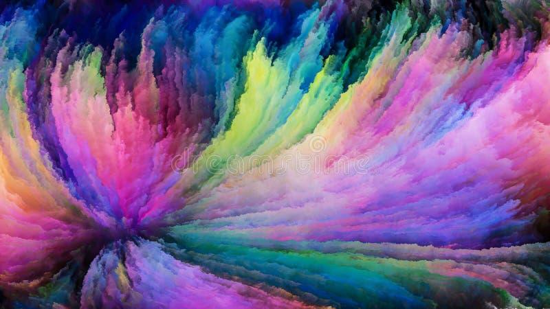 Rêver de la peinture colorée images libres de droits