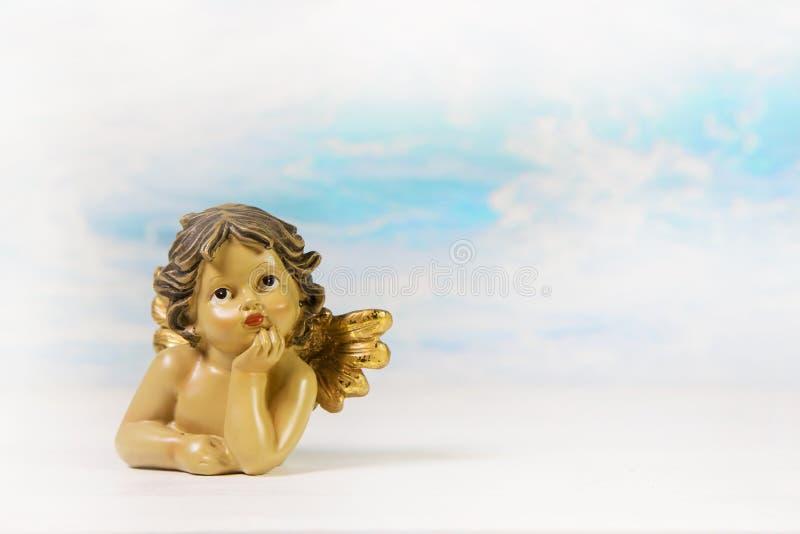 Rêver l'ange gardien sur un fond ; idée pour une voiture de salutation image stock