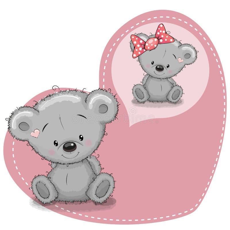 Rêver l'ours illustration libre de droits