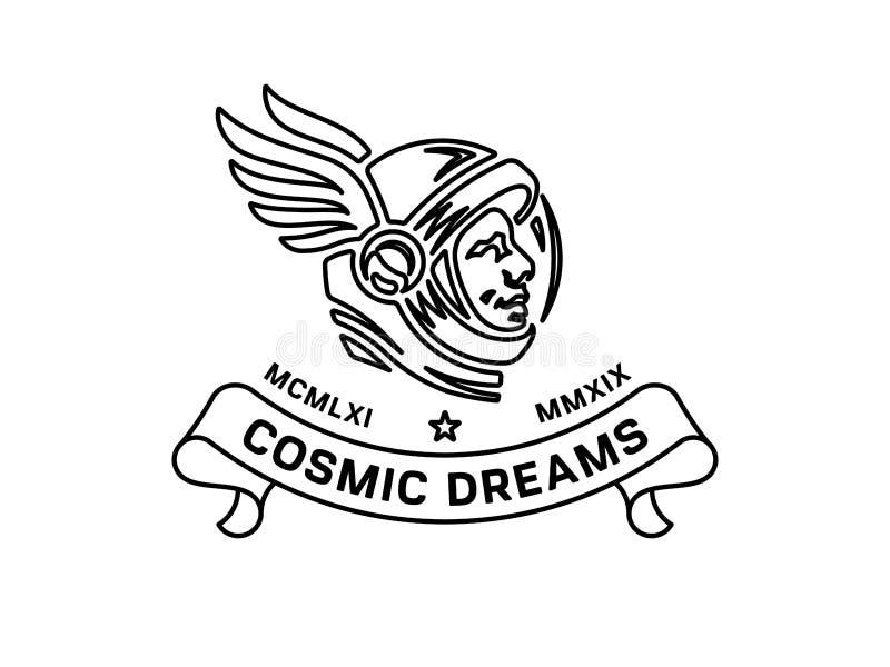 Rêver la commémoration de course de l'espace d'étoiles illustration stock