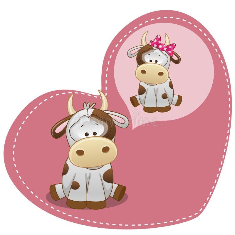 Rêver la vache illustration libre de droits