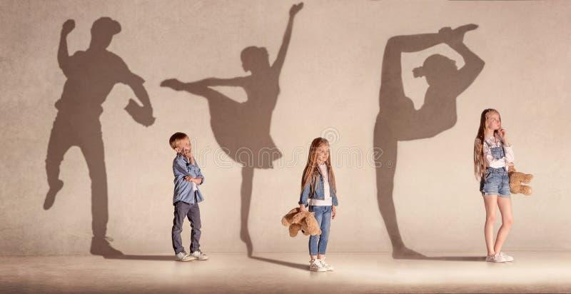 Rêver les enfants, collage créatif photo libre de droits