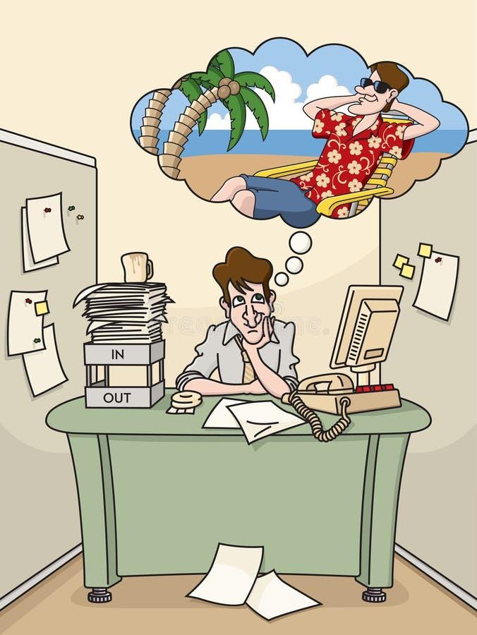 Rêverie de vacances illustration de vecteur