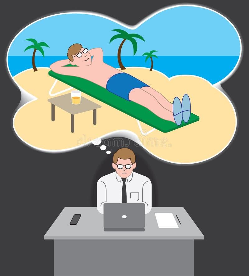 Rêverie de vacances illustration libre de droits