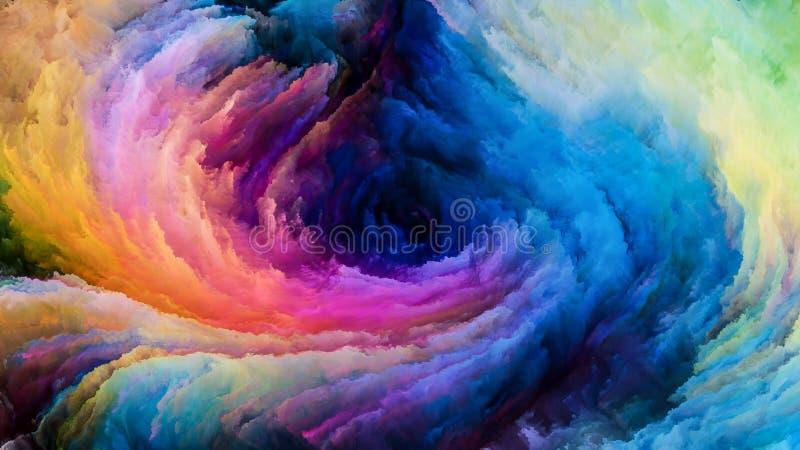 Rêves colorés de peinture illustration de vecteur