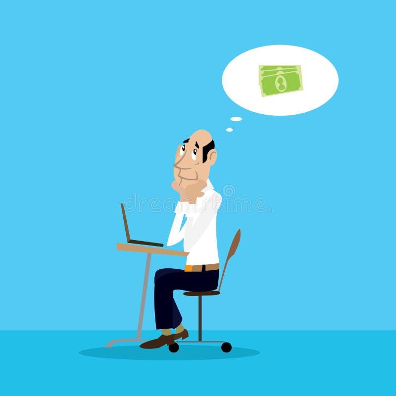 Rêves d'homme d'affaires d'argent illustration de vecteur
