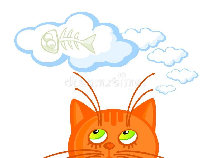 Rêves de chat illustration libre de droits