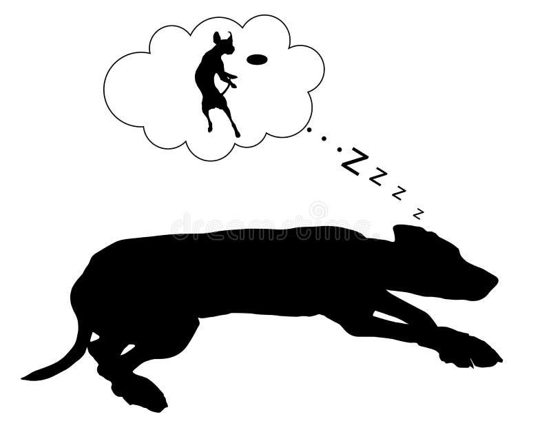 Rêves de chien illustration stock