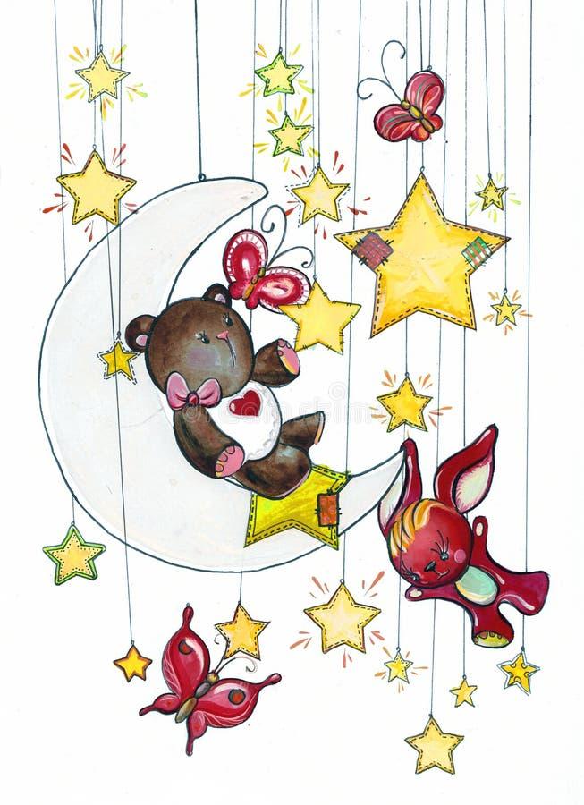 Rêves de nuit illustration stock