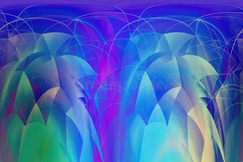 Rêveur à la mode, abstrait, imagination 3d multicolore, fond géométrique illustration libre de droits