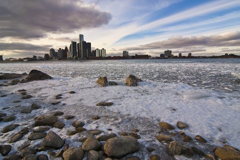 Río 1 de Detroit imagen de archivo
