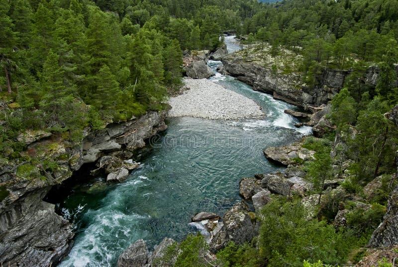 Río azul fotografía de archivo