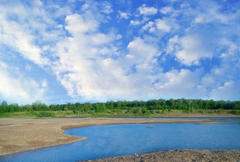 Río Belaya imagen de archivo