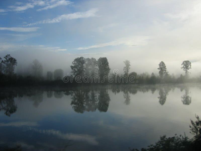 Río brumoso de Fraser fotos de archivo libres de regalías