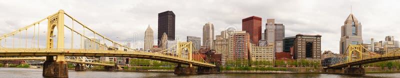Río céntrico de Allegeny del horizonte de la ciudad de Pittsburgh Pennsylvania fotos de archivo
