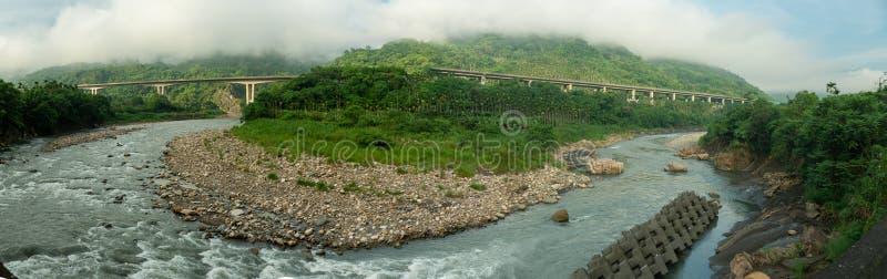 Río curvado como la herradura fotos de archivo