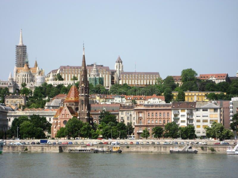 Río Danubio, Budapest foto de archivo