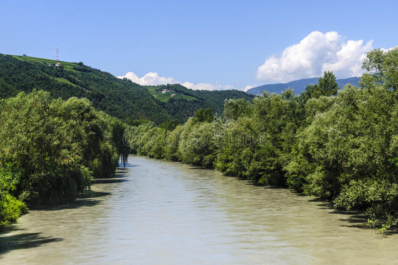 Río de Adige fotografía de archivo libre de regalías
