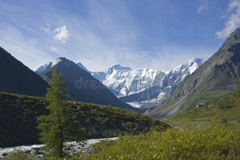 Río de Ak-Kem cerca del mt. Belukha, Altai, Rusia fotografía de archivo libre de regalías