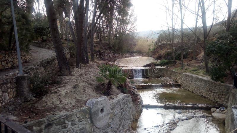 Río de Albaida, de Benisoda y de x28; Valencia& x29; y x28; Spain& x29; fotografía de archivo