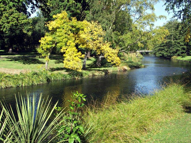 Río de Avon, Christchurch imagen de archivo libre de regalías