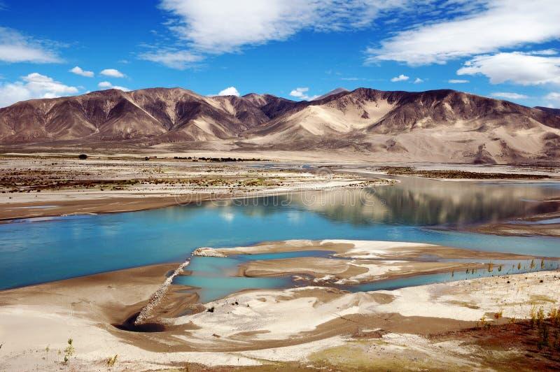 Río de Brahmaputra foto de archivo