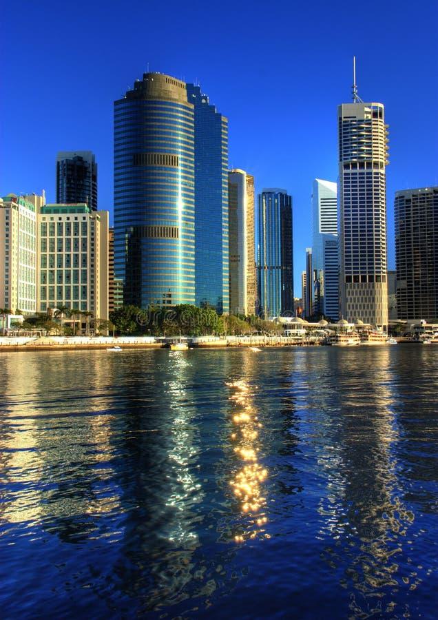 Río de Brisbane y CBD foto de archivo libre de regalías