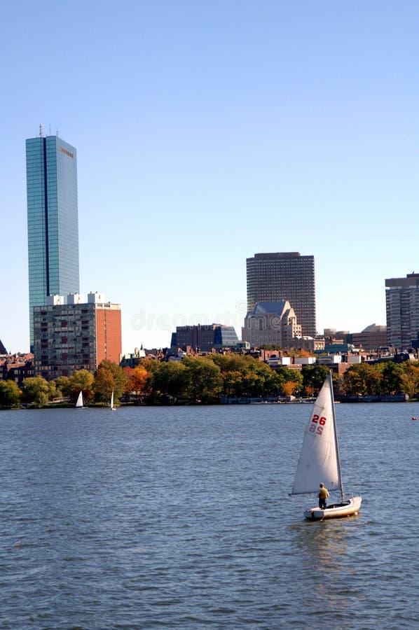Río de Charles de la navegación Boston fotografía de archivo libre de regalías