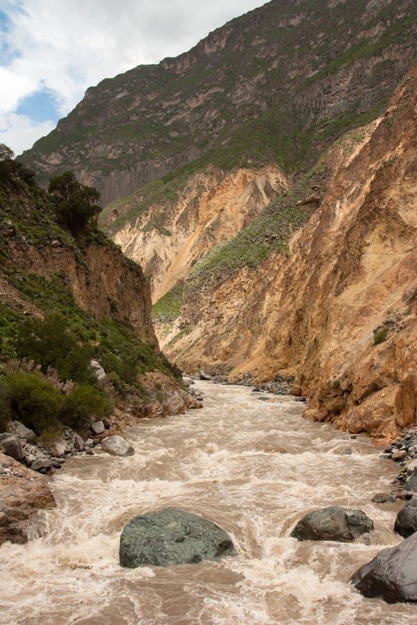 Río de Colca imagen de archivo libre de regalías