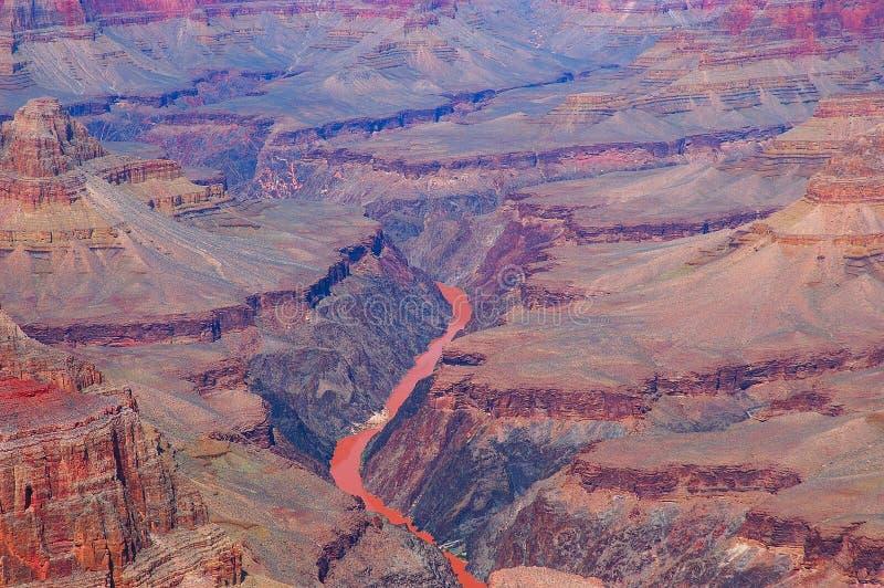 Río de Colorado en barranca magnífica fotos de archivo libres de regalías