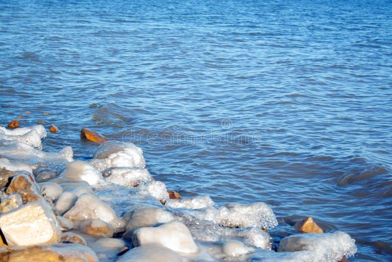 Río de congelación imagen de archivo libre de regalías