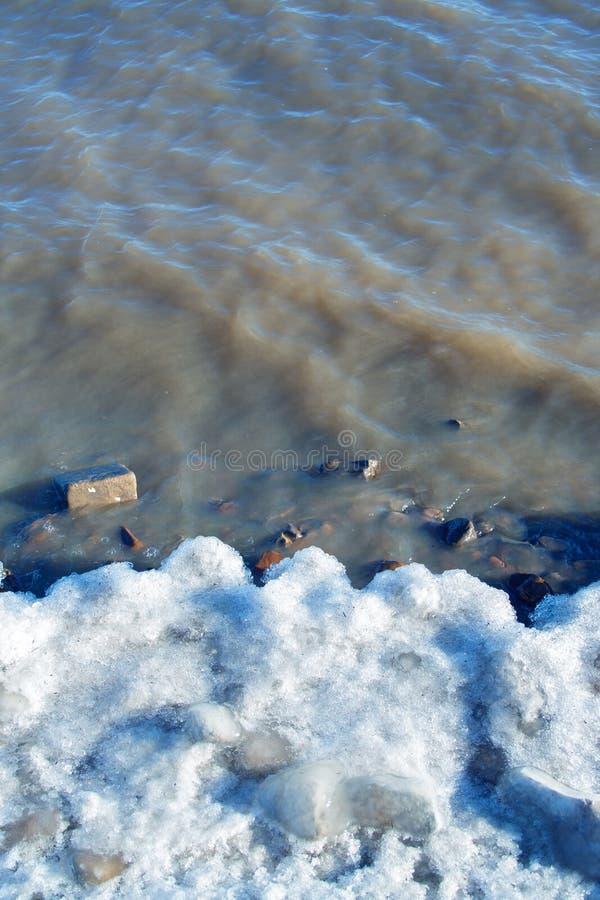 Río de congelación fotos de archivo