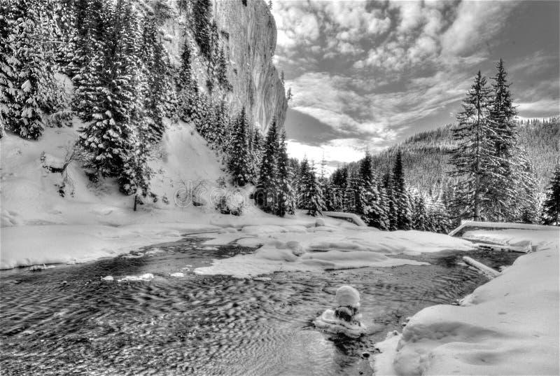 Río de congelación imagen de archivo