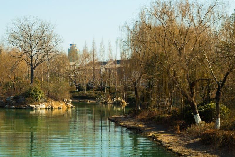 Río de Daming Lake imagen de archivo