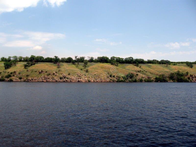 Río de Dnepr ucrania fotografía de archivo