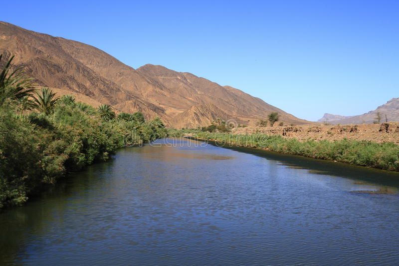 Río de Draa imagenes de archivo