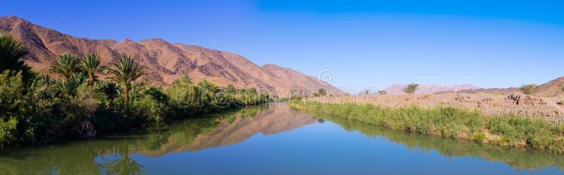 Río de Draa en Marruecos fotos de archivo