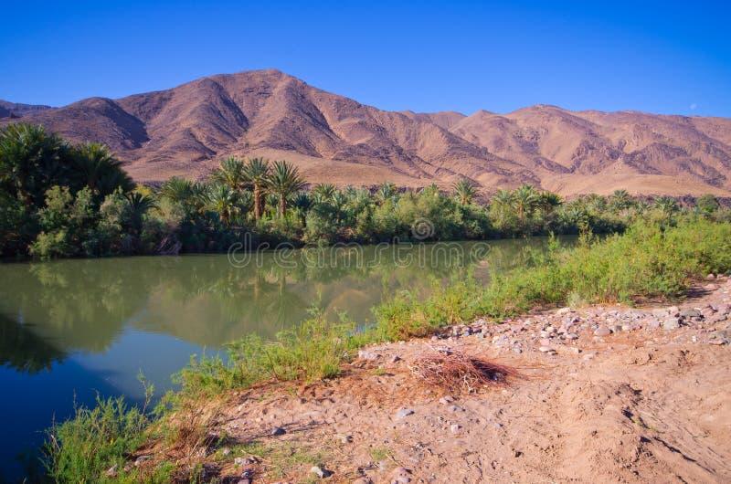 Río de Draa en Marruecos imágenes de archivo libres de regalías
